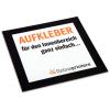 Papier autocollant imprimé numériquement, avec dos fendu pour faciliter le décollage du support (non adapté à l'utilisation en extérieur)