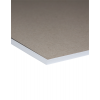 Dessous avec carton gris de vieux papiers solide.