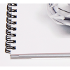 Agrandissement de la spirale de notre livre d'échantillons de papier