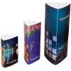 Prisma : présentoirs à 3 côtés en 3 tailles différentes