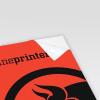 Papier fluo rouge (image similaire).