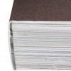 reliure PUR : le dos du bloc de livre est rendu rugueux et est collé avec la couverture