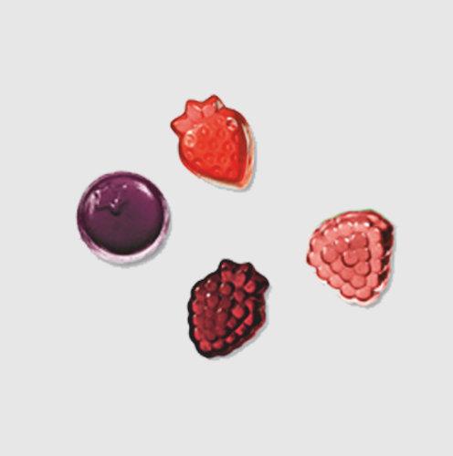 Mélange de fruits rouge